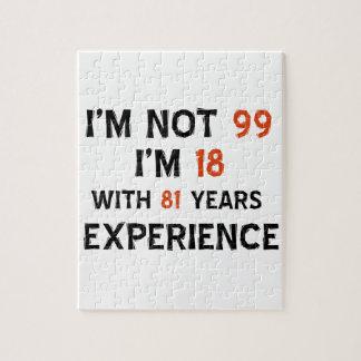 99th birthday designs jigsaw puzzle
