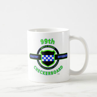 "99TH INFANTRY DIVISION ""CHECKERBOARD"" DIVISION COFFEE MUG"