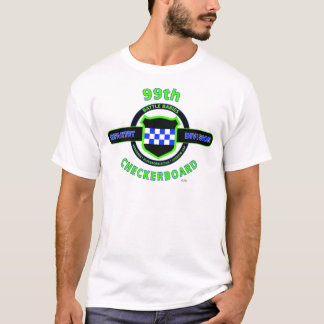 """99TH INFANTRY DIVISION """"CHECKERBOARD"""" DIVISION T-Shirt"""