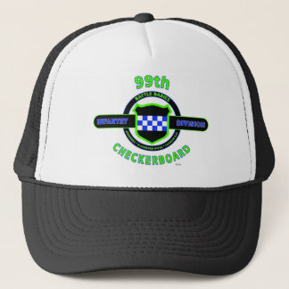 "99TH INFANTRY DIVISION ""CHECKERBOARD"" DIVISION TRUCKER HAT"
