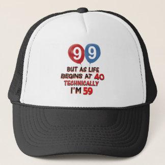 99th year birthday designs trucker hat