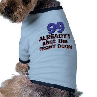 99th year old birthday designs dog t-shirt