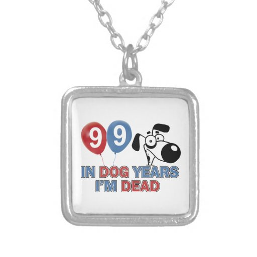 99th year old birthday designs necklace
