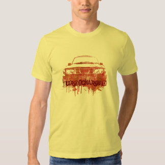 99turbo water color grunge red-orange turbocharged t-shirt