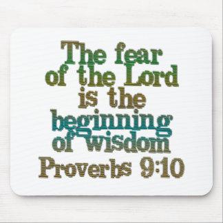 9:10 de los proverbios alfombrillas de ratón