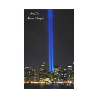 9/11/01 Never Forget Gallery Wrapped Canvas