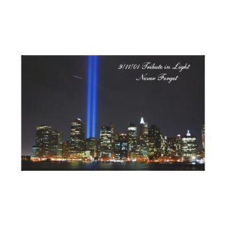 9/11/01 Never Forget - wrapped canvas. Stretched Canvas Prints