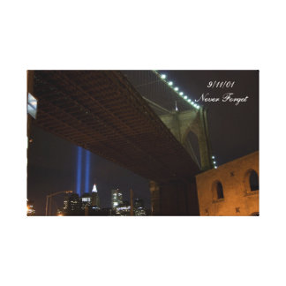 9/11/01 Never Forget - wrapped canvas Gallery Wrapped Canvas