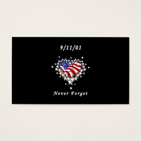 9/11/01 Patriotic Tattoo Business Card