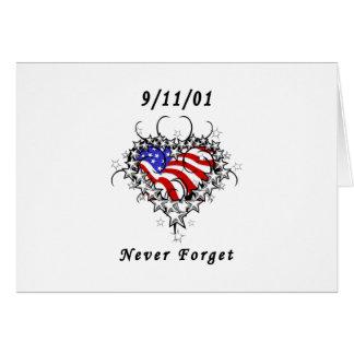 9/11/01 Patriotic Tattoo Card