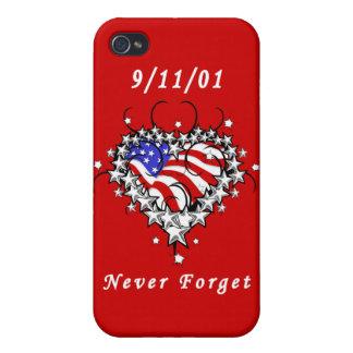 9/11/01 Patriotic Tattoo iPhone 4 Case