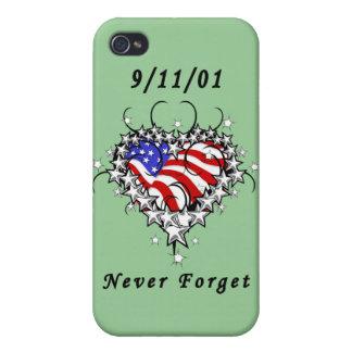 9/11/01 Patriotic Tattoo iPhone 4/4S Covers