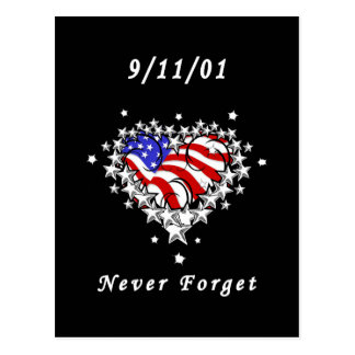 9/11/01 Patriotic Tattoo Postcard