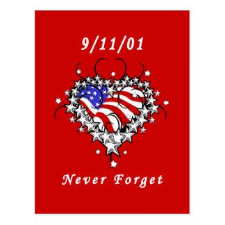 9/11/01 Patriotic Tattoo Post Cards