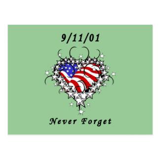 9/11/01 Patriotic Tattoo Post Card