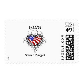 9/11/01 Patriotic Tattoo Stamp