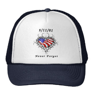 9/11/01 Patriotic Tattoo Trucker Hat