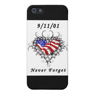 9/11/01 patriótico iPhone 5 carcasas