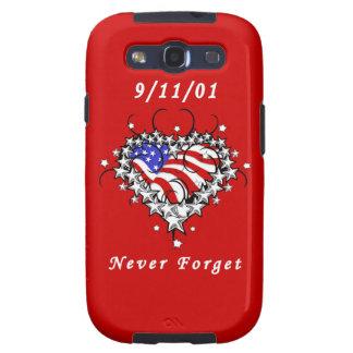 9/11/01 patriótico nunca olvide el tatuaje galaxy s3 cobertura