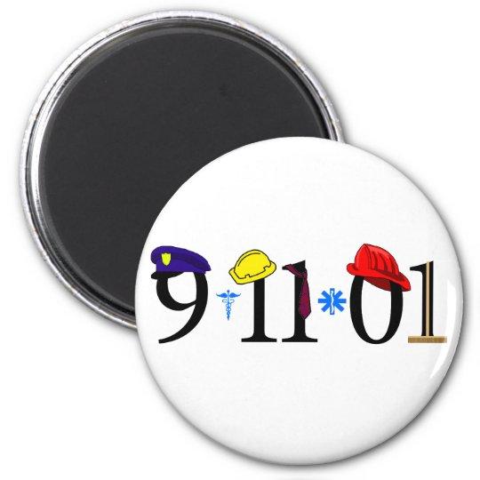 9-11-01 - Recuerde Imán Redondo 5 Cm