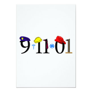 """9-11-01 - Recuerde Invitación 5"""" X 7"""""""