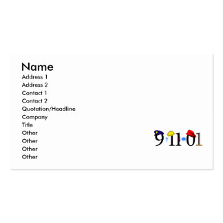 9-11-01 - Remember Business Card Template