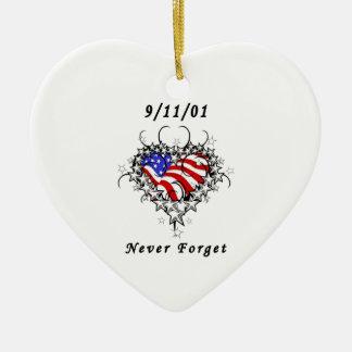 9 11 01 tatuaje patriótico adornos de navidad
