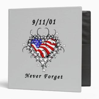 "9/11/01 tatuaje patriótico carpeta 1 1/2"""