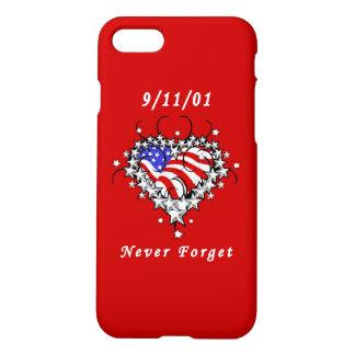 9/11/01 tatuaje patriótico funda para iPhone 7