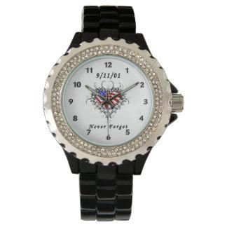 9/11/01 tatuaje patriótico relojes de pulsera