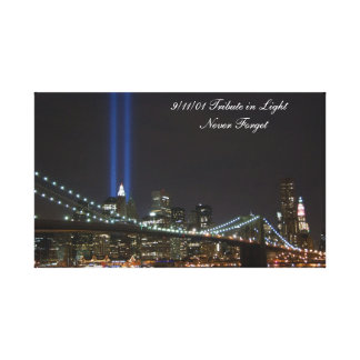 9/11/01 Tribute in Light wrapped canvas Gallery Wrapped Canvas