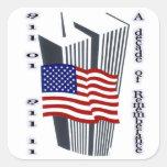9-11 10ma conmemoración del aniversario pegatinas cuadradases personalizadas