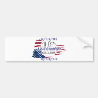 9-11 10mo aniversario conmemorativo pegatina para auto