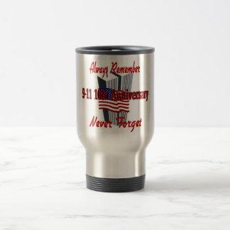 9-11 10mo aniversario conmemorativo tazas de café
