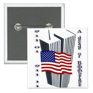 9-11 10th Anniversary Commemorative Button