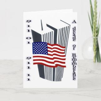9-11 10th Anniversary Commemorative Card