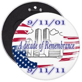 9-11 10th Anniversary Commemorative Pinback Button