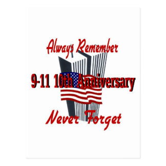 9-11 10th Anniversary Commemorative Postcard