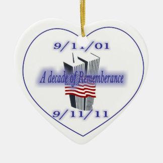 9-11 10th Anniversary Remembrance Ceramic Ornament