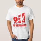 """9/11 - 10th Anniversary Tee Shirt """"we remember"""""""