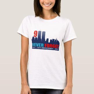 9/11 10th Anniversary - WTC Twin Towers Skyline T-Shirt