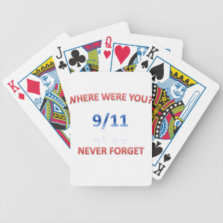 9/11/2001 BICYCLE PLAYING CARDS