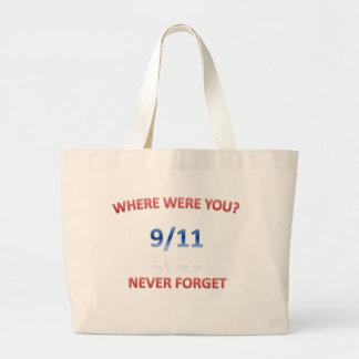 9/11/2001 LARGE TOTE BAG