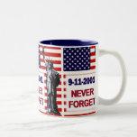 9-11-2001 Never Forget Coffee Mugs