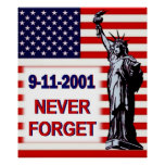 9-11-2001-Never Forget Poster
