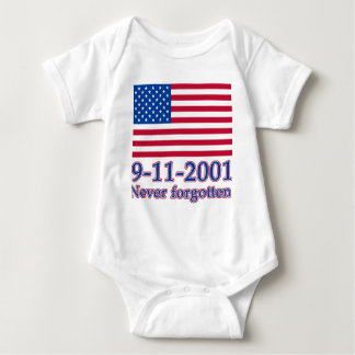 9-11-2001 Never Forgotten Tshirts, Buttons Baby Bodysuit