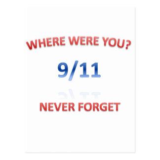 9/11/2001 POSTCARD