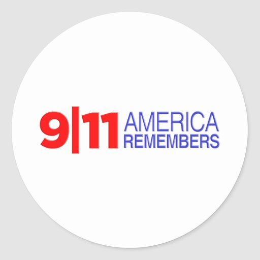 9/11 América recuerda Etiqueta Redonda