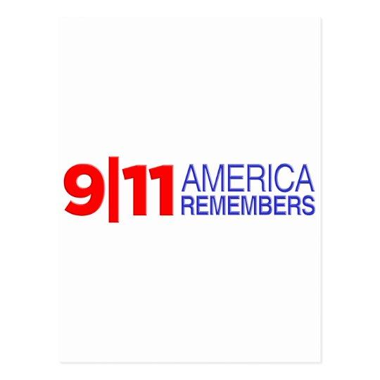 9/11 America Remembers Postcard