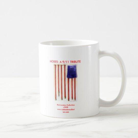 9/11 American Flag Firefighter Coffee Mug